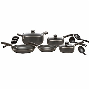 WearEver C957SC74 Admiration Nonstick 12-piece Cookware Set, Grey&nbsp;