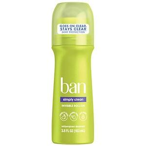 Ban Simply Clean Roll-On Antiperspirant & Deodorant- 3.5 fl oz