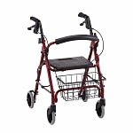 Nova Getgo Petite Rolling Walker, Red