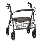 Nova Mini Mack Heavy Duty Rolling Walker, Blue