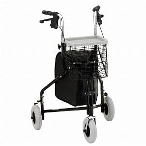 Nova Traveler 3 Wheel Rolling Walker, Black- 1 ea