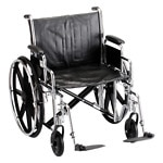 Nova Wheelchair Detachable D/A & S/A Footrests., 22 inch