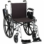 Nova Wheelchair Lightweight with Flip Back D/A & S/A Footrest, 16 inch