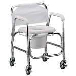 Nova Commode/Shower Chair with Wheels- 1 ea