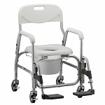 Nova Shower Chair/Commode with Padded Seat & S/A Footrest