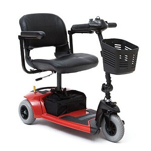Travel Pro 3-Wheel Scooter Model SC36, Red- 1 ea