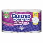Quilted Northern Ultra Plush Bath Tissue, Double Roll, 6 pk- 200 sh