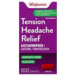 Walgreens Tension Headache Pain Reliever Coated Caplets- 100 ea