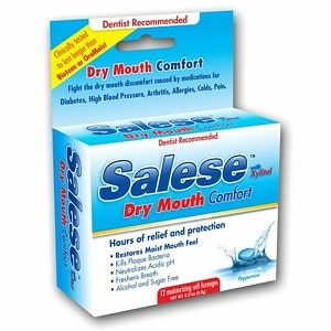 Salese Original, Hours of Dry Mouth Relief, Moisturizing Lozenges, Peppermint- 12 ea