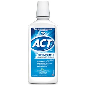 ACT Total Care Dry Mouth Anticavity Mouthwash, Soothing Mint- 33.8 fl oz