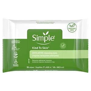 Simple Facial Wipes, Exfoliating, 25 ea
