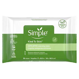 Simple Exfoliating Facial Wipes- 25 ea