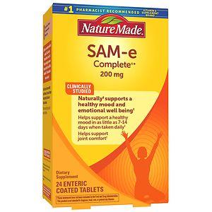 Nature Made SAM-e Complete, 200mg, Tablets- 20 ea