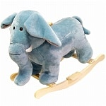 Happy Trails Elephant Plush Rocking Animal- 1 ea