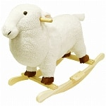Happy Trails Lamb Plush Rocking Animal- 1 ea