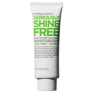 Formula 10.0.6 Seriously Shine Free Mattifying Oil-Free Moisturizer with Aloe Vera & Bamboo- 2.54 fl oz