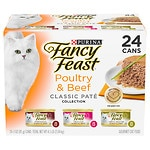 Fancy Feast Poultry & Beef Feast, Variety Classic, Case- 3 oz
