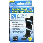 Miracle Socks Anti-Fatigue Compression Socks, Unisex, Black, Small/Medium