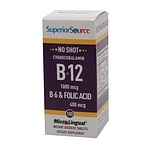 Superior Source No Shot B6/B12/Folic Acid, Dissolve Tablets- 100 ea