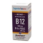 Superior Source No Shot Methylcobalamin B12/B6/Folic Acid 800mcg, Disolve Tablets