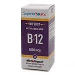 Superior Source No Shot Methylcobalamin B12 5000mcg, Dissolve Tablets- 60 ea