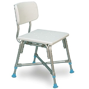 AquaSense Adjustable Bariatric Bath Bench with Non-Slip Seat and Back Rest- 1 ea