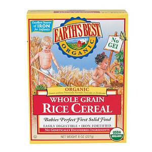 Earth's Best Organic Brown Rice Cereal- 8 oz