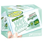 Wet Ones Sensitive Skin Hand & Face Wipes, Singles, Fragrance Free