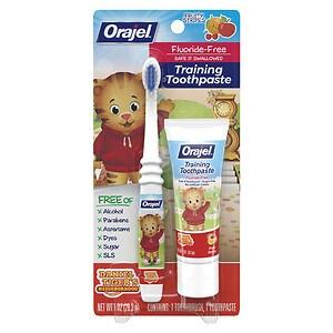 Orajel Toddler Thomas Toddler Training Toothpaste with Toothbrush, Tooty Fruity- 1 oz