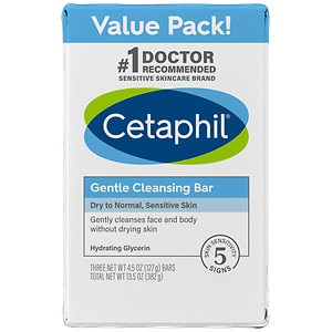 Cetaphil Gentle Cleansing Bar Value Pack, 3 pk