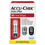 Accu-Chek Aviva Plus Test Strips- 50 ea