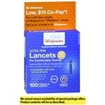 Walgreens Super Thin 30 Gauge Sterile Tip Lancets- 100 ea