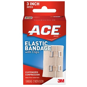 Ace Elastic Bandage with Clips, Model 207314, 3 inches