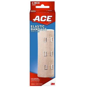Ace Elastic Bandage with Clips, Model 207315, 6 inches