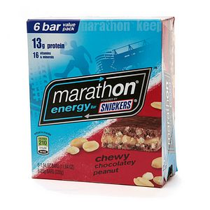 Snickers Marathon Energy Bar, Chewy Chocolate Peanut, 6 ea