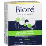 Biore Daily Cleansing Cloths- 60 ea