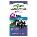 Nature's Way Multi-Symptom Flu Relief Elderberry Chewable Lozenges- 30 ea
