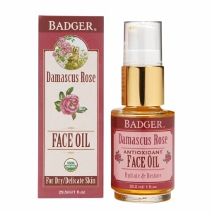 Badger Antioxidant Face Oil, Damascus Rose