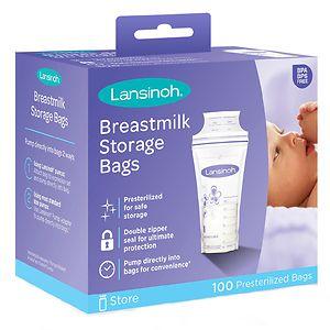 Lansinoh Breastmilk Storage Bags,  100 ea