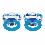 NUK Trendline Natural Shape Orthodontic Silicone Pacifier, 18-36 months