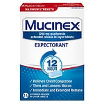 Mucinex Maximum Strength 12 Hour Expectorant, Extended-Release Bi-Layer Tablets, 1200 mg- 14 ea