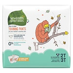 Seventh Generation Free & Clear Training Pants, Size 2T-3T, 25ea
