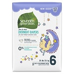 Seventh Generation Baby Overnight Diapers, Stage 6, 35+ lbs