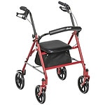 Drive Medical Four Wheel Rollator with Fold Up Removable Back Support