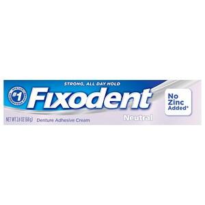 Fixodent Denture Adhesive Cream Neutral- 2.4 oz