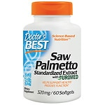 Doctor's Best Saw Palmetto Standardized Extract, 320mg, Softgels- 180 ea