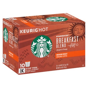 Starbucks K-Cups, Breakfast Blend, 10 pk, .44 oz