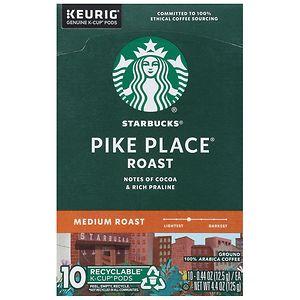 Starbucks K-Cups, Pike Place Roast, 10 pk, .44 oz