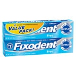 Fixodent Denture Adhesive Cream, 2 pk- 2.4 oz