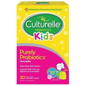 Culturelle Kids! Chewables Probiotic, For Kids 50-100lbs, Tablets, Berry- 30 ea